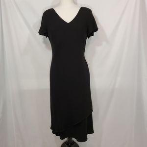 S.L. Fashions Short Sleeve V Neck Classy Dress